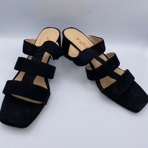 YDN Women Casual Open Toe Block Stacked Mid Heels